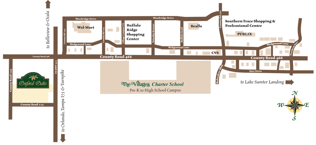 Oxford Oaks Map